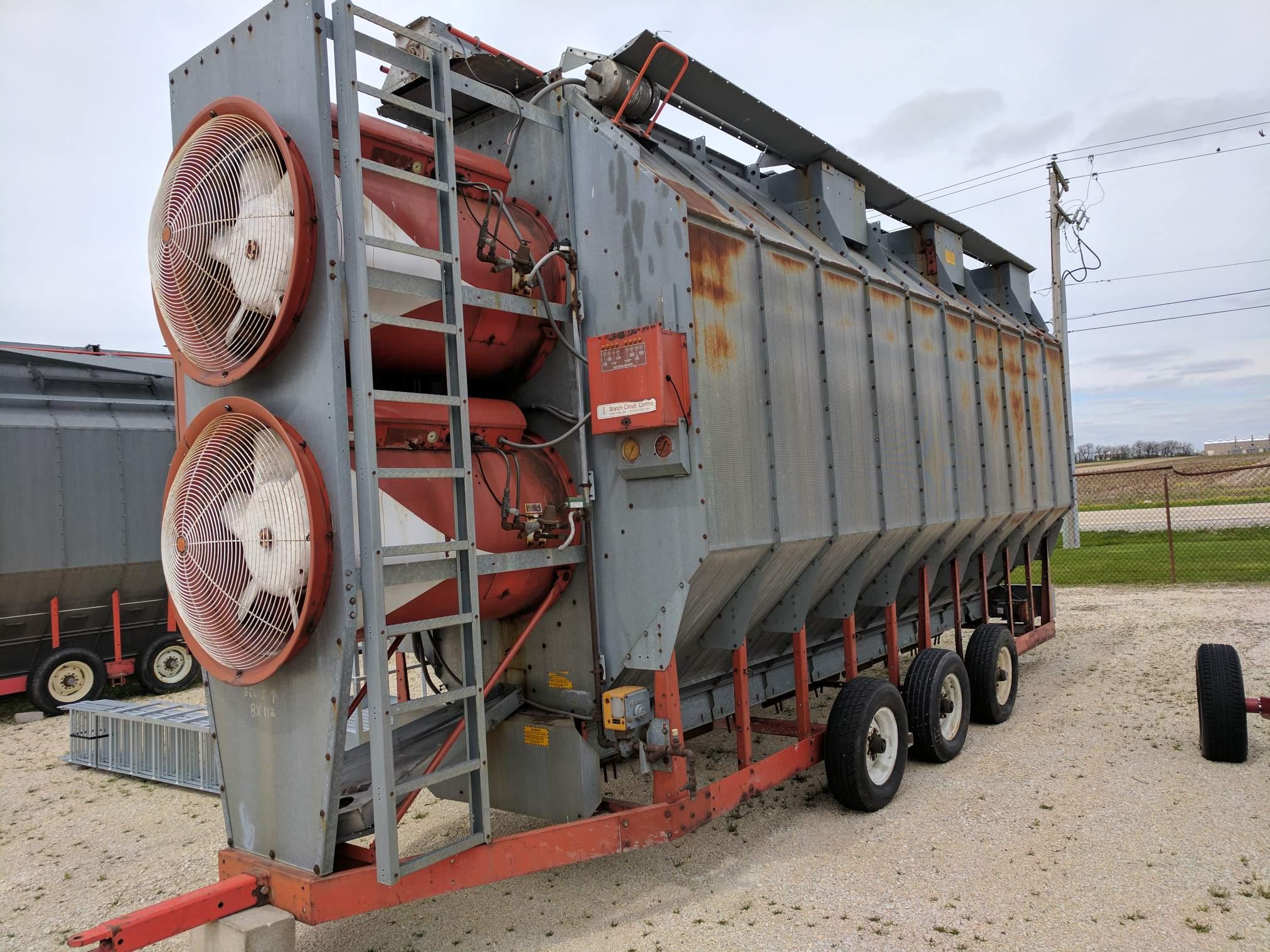Used Grain Blowers : Used farm fans model cf h dryer grain